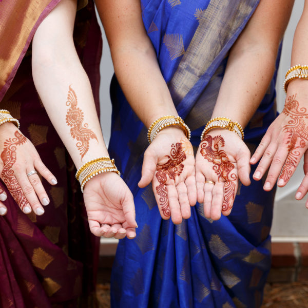 Vibrant Indian American Fusion Wedding